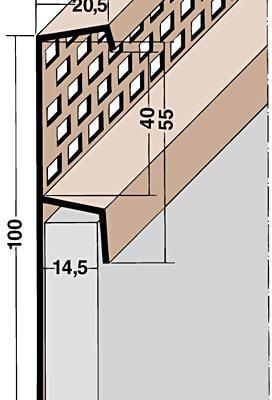 L loftunarlisti PVC 2,5m (3664)