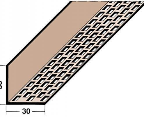 L loftunarlisti PVC 2,5m SVARTUR (3612 )