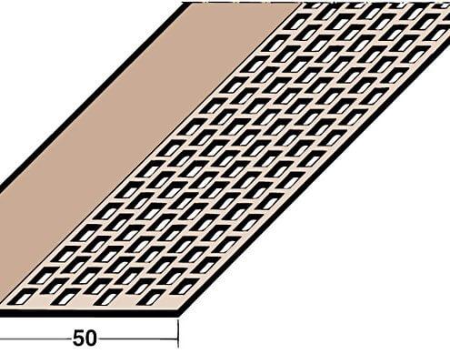 L loftunarlisti PVC 2,5m BRÚNN ( 3610 )